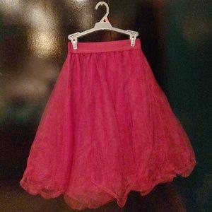 Maroon tulle skirt/ tutu